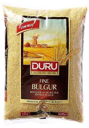 Duru Bulgur Bulgur fein (Köftelik Bulgur), 1Kg: Amazon.de ...