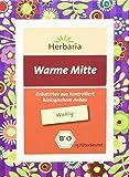 """Herbaria """"Warme Mitte Tee"""" 15FB BIO Kräutertee aus kontrolliert biologischem Anbau Mit diesem Tee wird's wohlig und warm, 2er Pack (2 x 24 g)"""