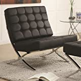 Amazon Com Baxton Studio Modern Leather Accent Chair