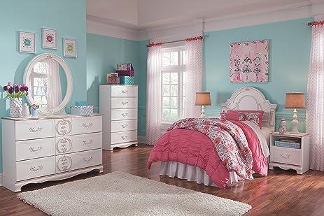 Ashley Furniture Signature Design   Korabella Panel Headboard   Twin   Kids  Bedroom   White