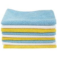 Amazon Basics CW190423A - Kit de limpieza para ordenador (Dry cloths, Microfibre, Blue, White, Yellow)