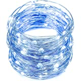 String Lights, Oak Leaf 2 Set of 30 LEDs Fairy Lights Micro Starry Light for DIY Home Party Wedding Centerpiece Table Decorations, Blue