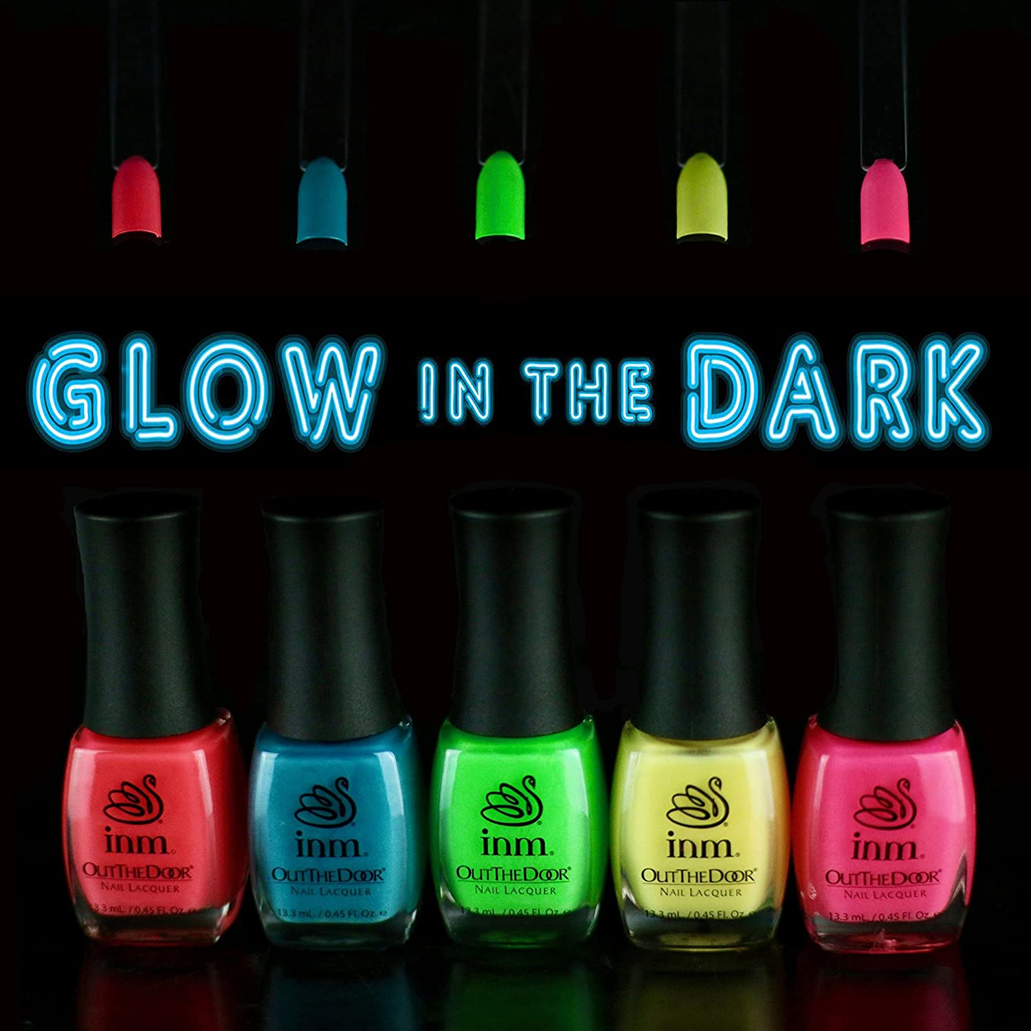 Amazon.com: INM Out The Door Glow In The Dark Collection Premium ...