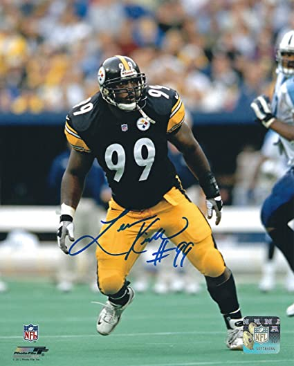 Autographed Levon Kirkland Pittsburgh Steelers 8x10 Photo at  for cheap