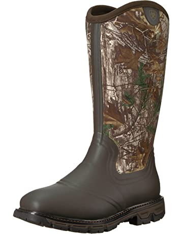 a33ad411d51f ARIAT Mens Conquest Neoprene Waterproof Insulated Square Toe Boot Rubber