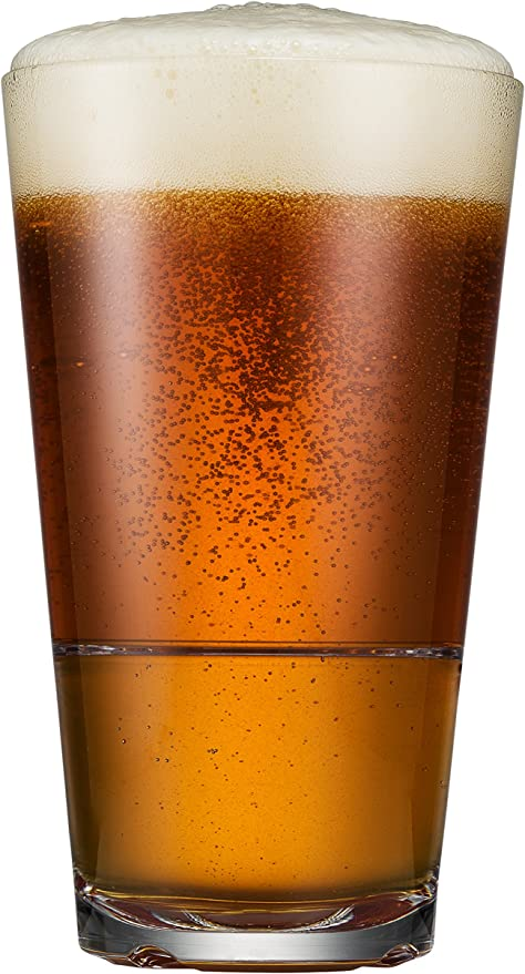 Drinique Caliber pinta – vaso de cerveza 16 oz – irrompible ...