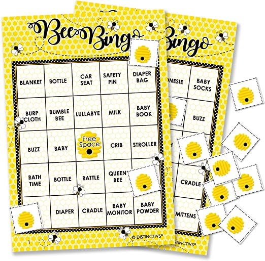 Bumble Bee Baby Bingo Game - 24 Guests on hunting kitchen ideas, baking kitchen ideas, church kitchen ideas, christmas kitchen ideas, home kitchen ideas, sport kitchen ideas, restaurant kitchen ideas, painting kitchen ideas, pool kitchen ideas, family kitchen ideas, fun kitchen ideas, quilting kitchen ideas, camping kitchen ideas, sewing kitchen ideas, business kitchen ideas, arts and crafts kitchen ideas, travel kitchen ideas, mobile kitchen ideas, photography kitchen ideas, halloween kitchen ideas,