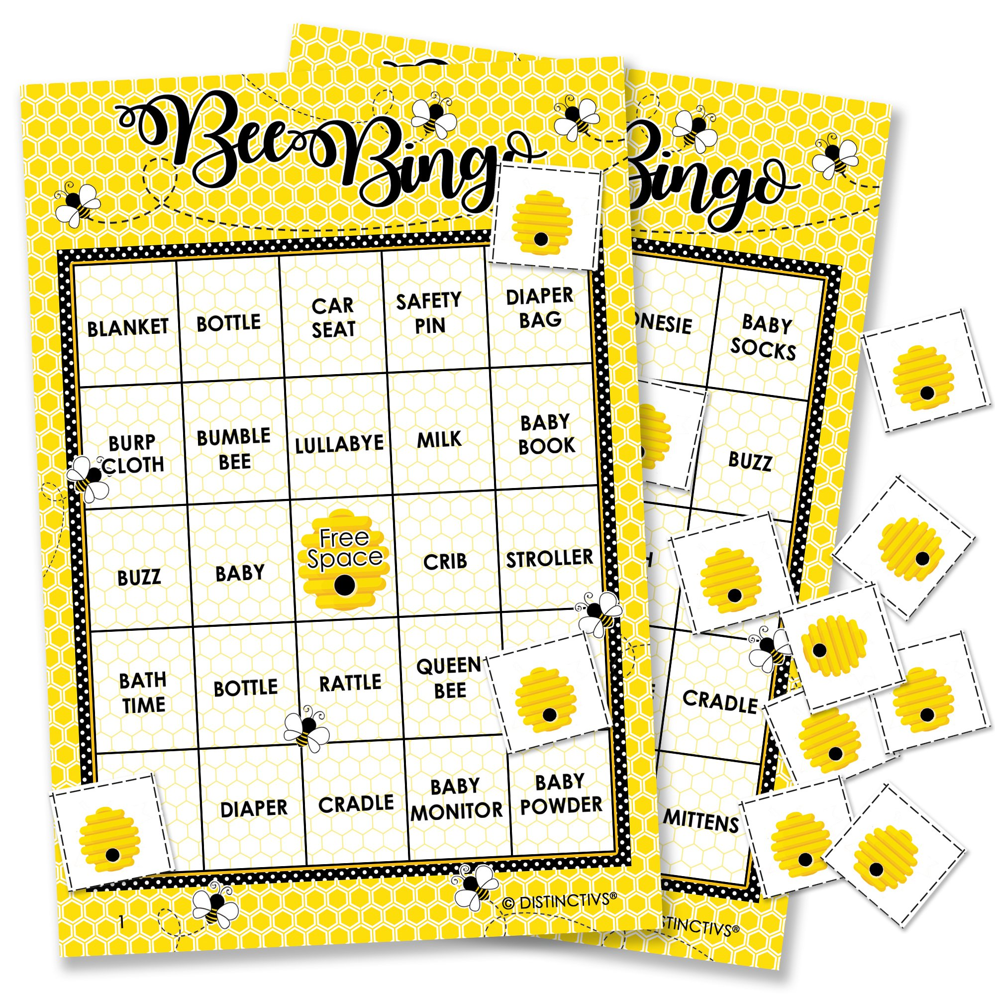 Bumble Bee Baby Bingo Game - 24 Guests