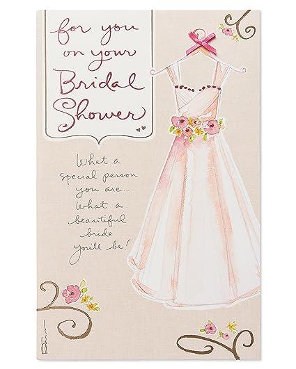 American Greetings Bridal Shower Card (Dress)
