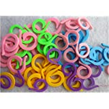 Knitting Stitch Counter - LeBeila Split Stitch Marker Rings Multi-Colored Crochet Stitch Markers Clip (60, Mixed)