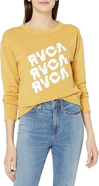 RVCA Womens Slice Crew Neck Sweatshirt
