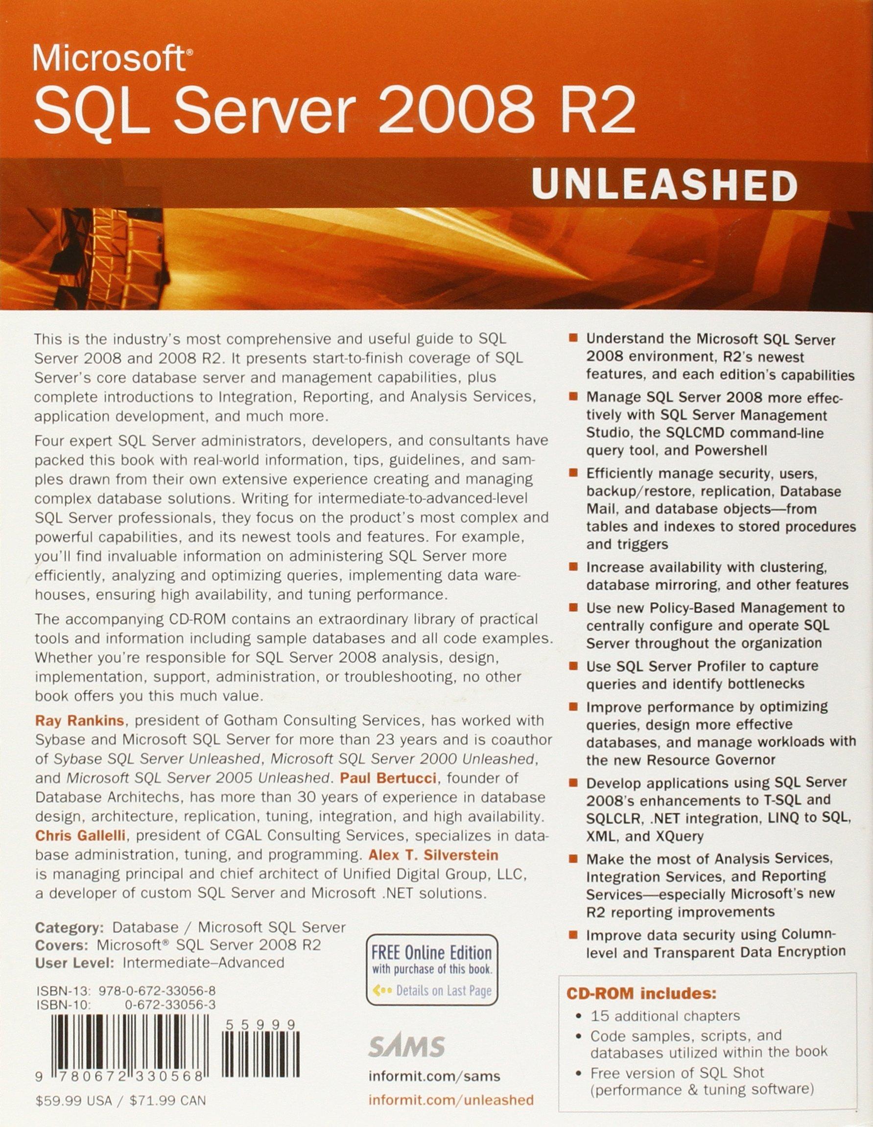 Microsoft Sql Server 2008 R2 Unleashed Pdf