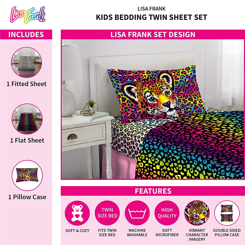 614d04929f9 Amazon.com  Lisa Frank Wildside Sheet Set Twin  Home   Kitchen