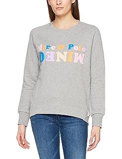 Marc O'Polo Damen Sweatshirt 608401154295, Grau (Arctic Grey