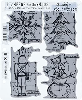 Tim holtz stamps stampers anonymous mini blueprint rubber stamp tim holtz cling mounted stamp sets stampers anonymous christmas blueprint rubber stamp malvernweather Image collections