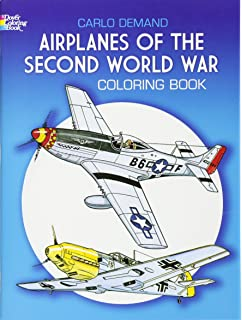 airplanes of the second world war coloring book dover history coloring book