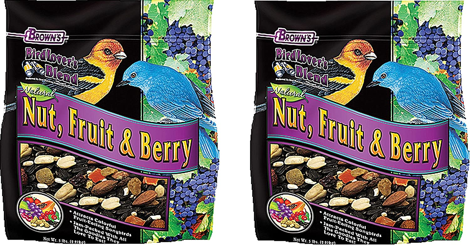 F.M. Brown's Bird Lover's Blend Fruit Nut and Berry, 5-Pound Each