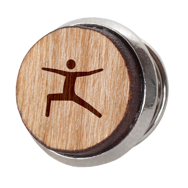 Wooden Accessories Co Yoga Warrior Pose - Alfiler de Corbata ...
