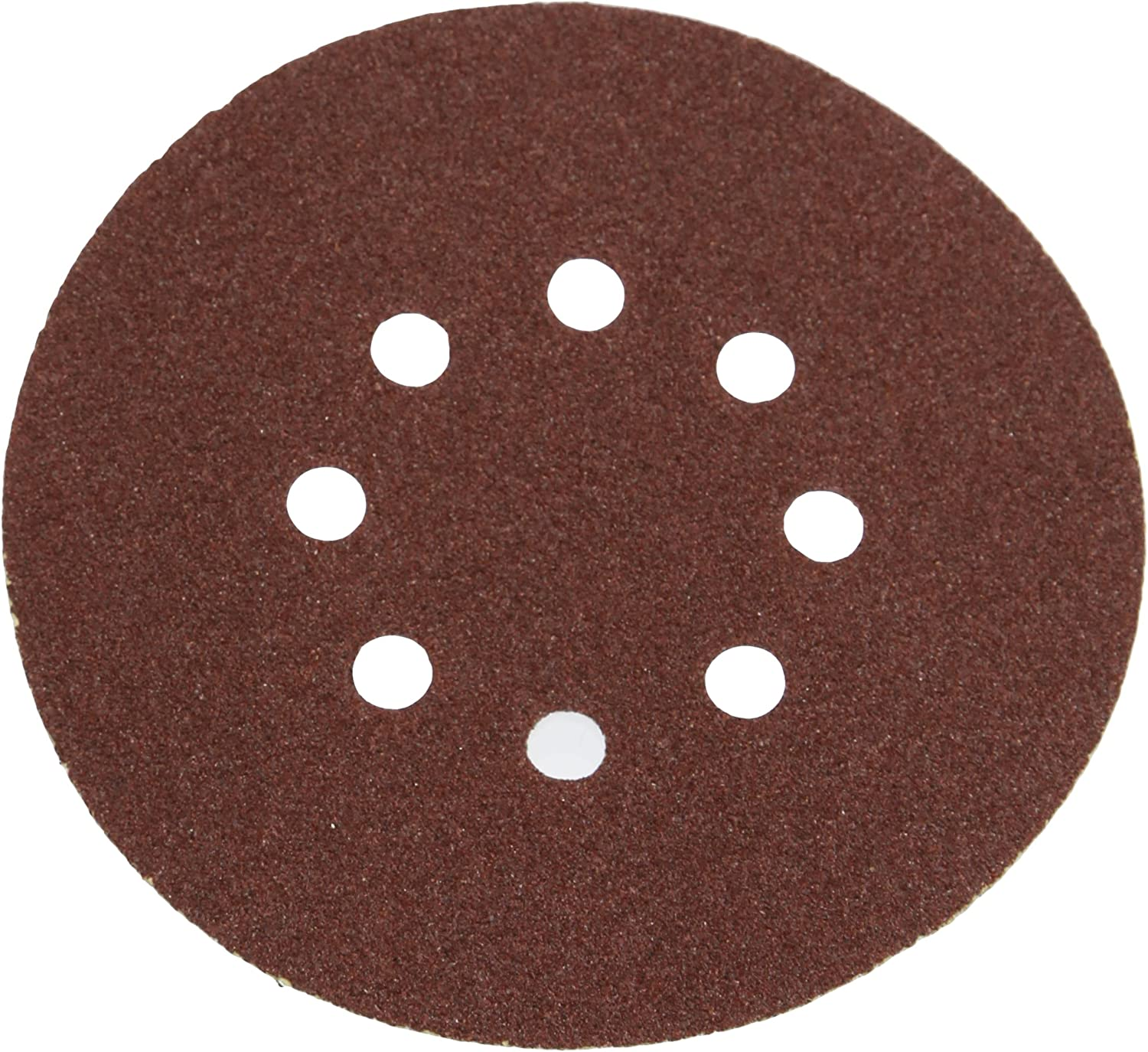 10 Pack 60 Grit Silverline 196571 Hook and Loop Discs Punched 150 mm