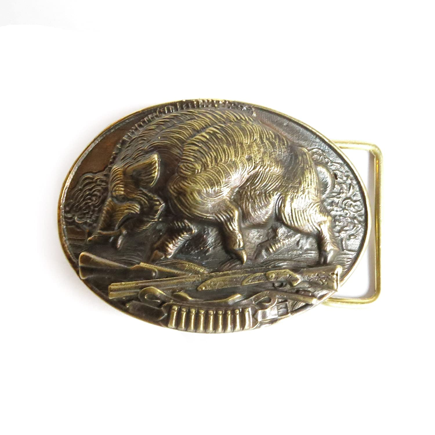 "Hunting trophy belt buckle ""Boar hunting"""
