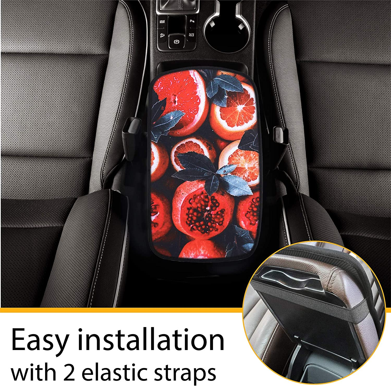 Car Accessories Interior Universal Vehicle Console Covers Pads with Car Coaters GERCHWAY Center Console Armrest Cover for Car