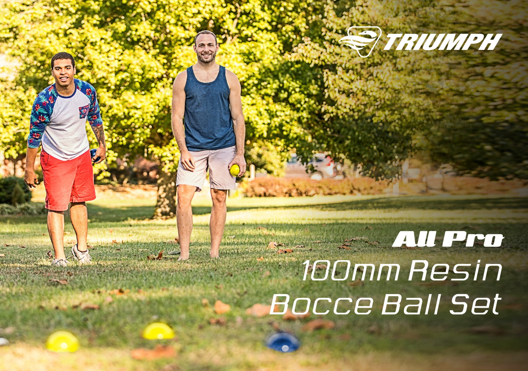 Triumph All Pro 100mm Bocce Set Includes Eight Bocce Balls, One 50mm Jack, and Carry Bag by Triumph Sports (Image #3)