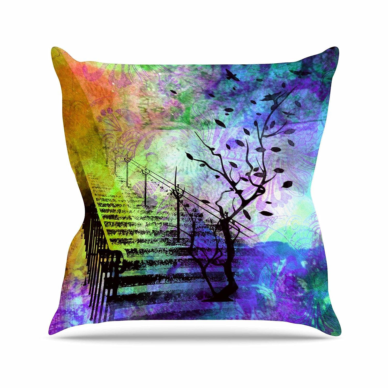 Multi Thro by Marlo Lorenz TH015370001E Doreen Dream Catcher Watercolor Kids Pillow