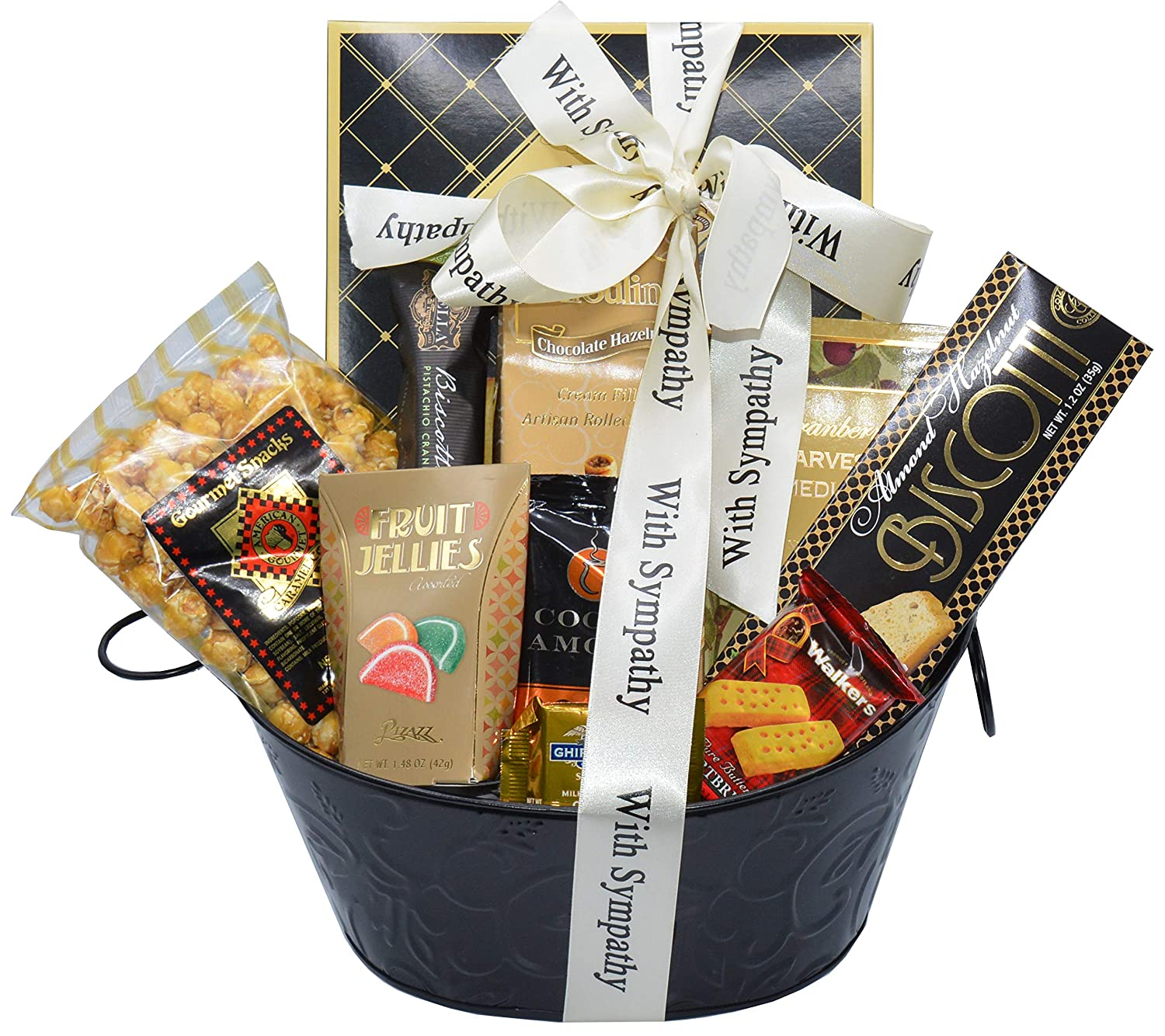 Amazon.com : Sincere Sympathy and Condolences Gourmet Gift Basket   Bereavement Gift Basket : Grocery & Gourmet Food