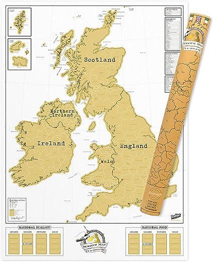 UK scratch off map