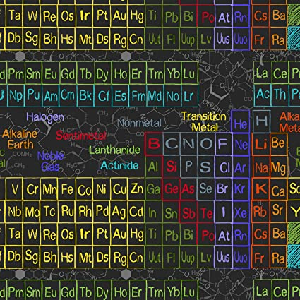 Amazon Science Fabric Chemistry Physics Fabric Periodic