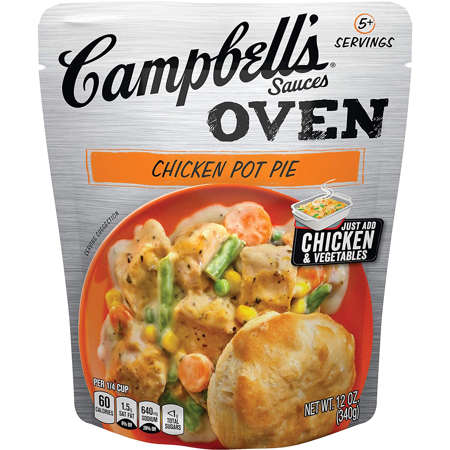 Campbell's Oven Sauces Chicken Pot Pie, 12 oz. (Pack of 6)