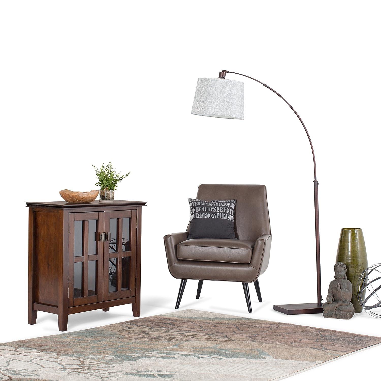 Amazon.com: Simpli Home Artisan Solid Wood Low Storage Cabinet ...