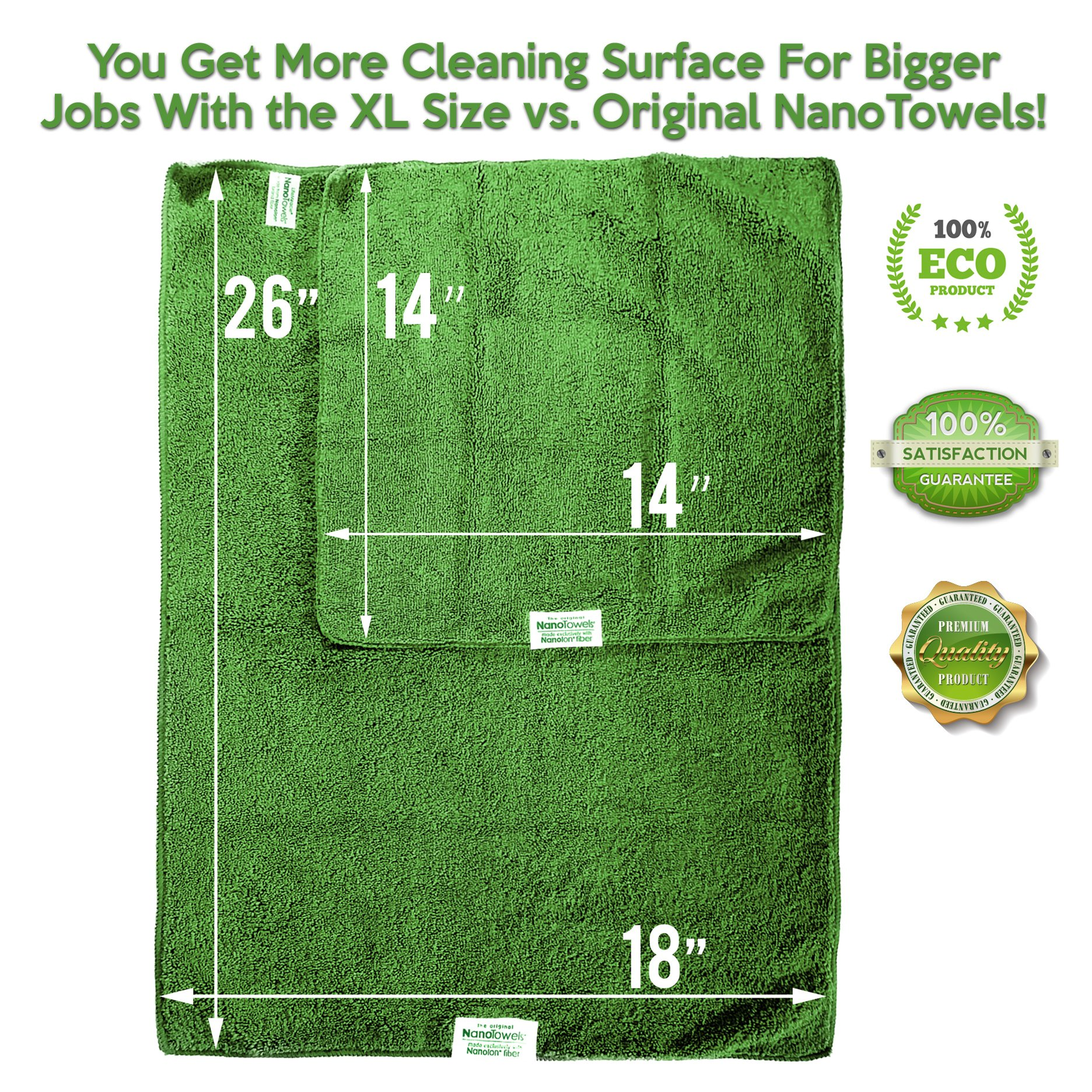 Life Miracle Nano Towels SUPERSIZED The Breakthrough Fabric That Replaces Paper Towels and Toxic Chemical Cleaners. Use As Bath Towels, Kitchen Towels, etc. All Purpose Cleaning Wipes 26x18 by Life Miracle (Image #4)