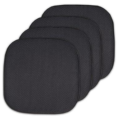 4 Pack Memory Foam Honeycomb Nonslip Back 16  x16  Chair/Seat Cushion Pad