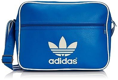 36fbf2b682 adidas Originals Airl Classic, Sac porté épaule - Bleu (Bleazu/Blacas),