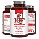 Extra Strength Tart Cherry Extract plus Celery Seed and Bilberry Extract - Anti Inflammatory, Antioxidant Supplement, Uric Acid Support, Muscle Recovery and Joint Pain - 90 Tart Cherry Capsules