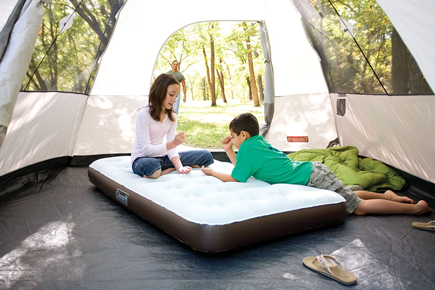 amazoncom coleman twin quickbed combo with pump inflatable beds sports u0026 outdoors