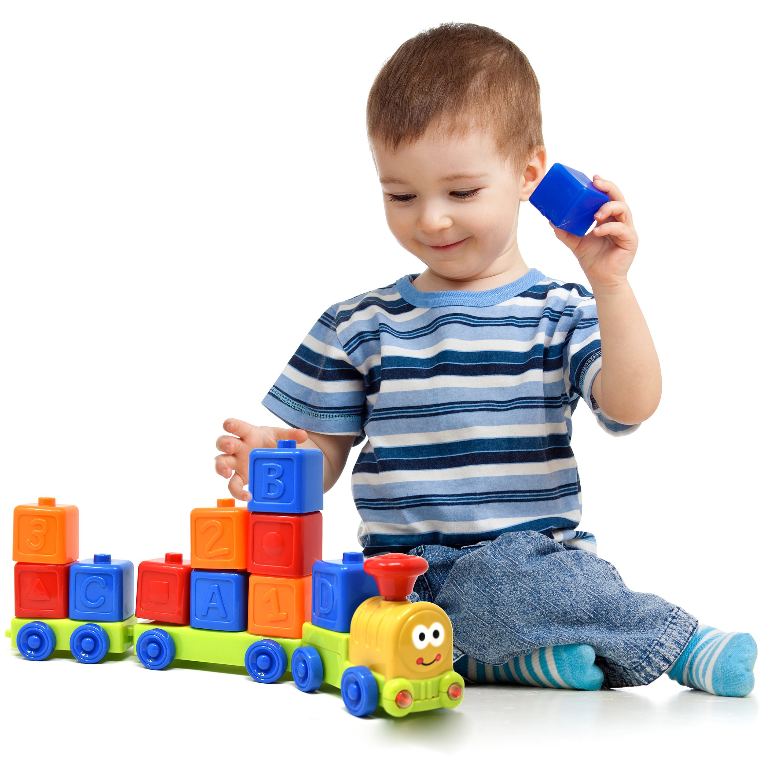 My First Train Set – Sound and Light Musical ABC, Number and Stack and Sort Train for Baby, Toddler and Kids, the Best Early Explorer Education Toy for Children