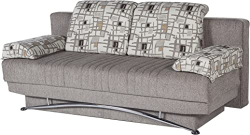 ISTIKBAL Multifunctional FANTASY Collection Futon Sofa Queen Size Sleeper ARISTO L. BROWN