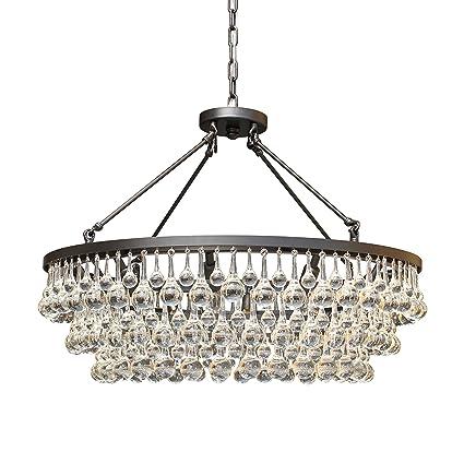 Amazon celeste glass drop crystal chandelier black cell celeste glass drop crystal chandelier black aloadofball Gallery