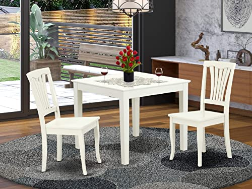 Cheap 3PC Square 36 inch Table and 2 vertical slatted Chairs living room table for sale