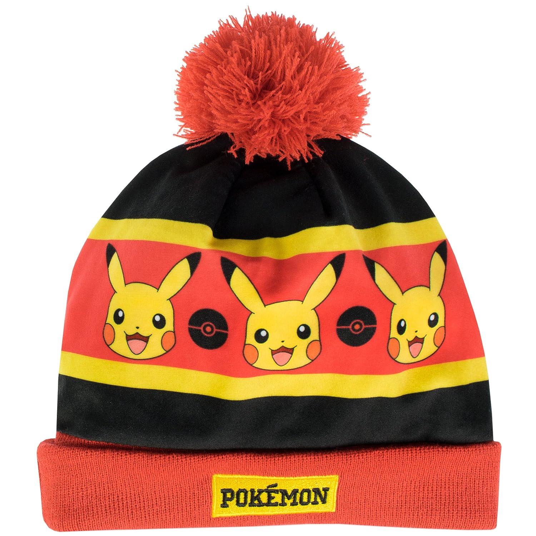 e0406f2c0f5 Pokemon Boys Pikachu Hat and Gloves Set Multicoloured One Size   Amazon.co.uk  Clothing