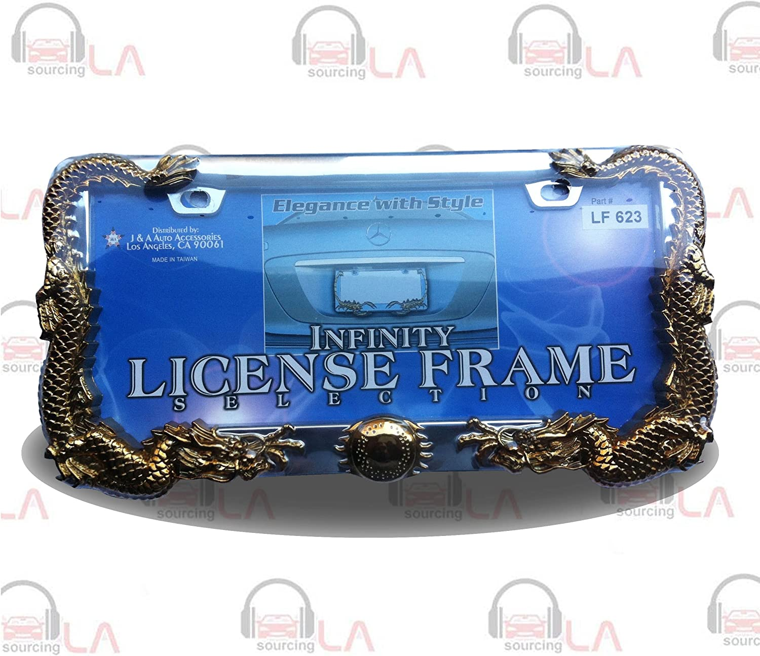 Multiple colors Silver Mirrored Aluminum License Plate fits Ford Lincoln