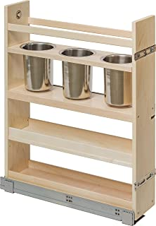 Century Components CASCAN55PF Kitchen Base Cabinet Pull Out Canister  Organizer   5 7/