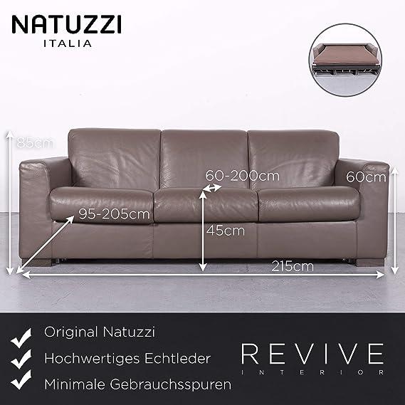 Natuzzi Designer Leder Sofa Braun Echtleder Dreisitzer Couch ...