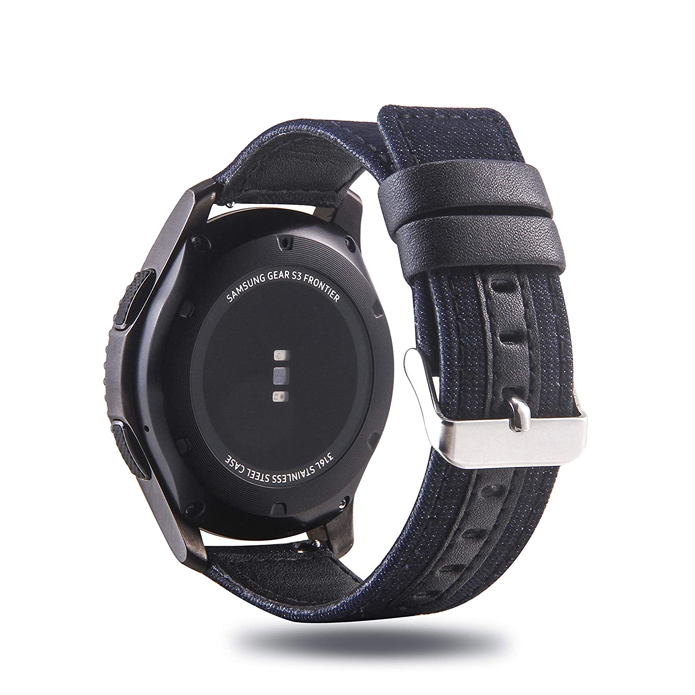 Correa de Piel auténtica y algodón para Reloj Samsung Galaxy Watch ...