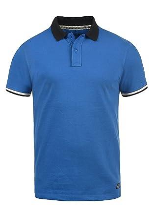 BLEND Prato Camiseta Polo De Manga Corta para Hombre con Cuello De ...