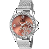 Swisstyle Classy Analogue Pink Dial Watch for Women with Silver Chain - SS-LR097-PNK-CH