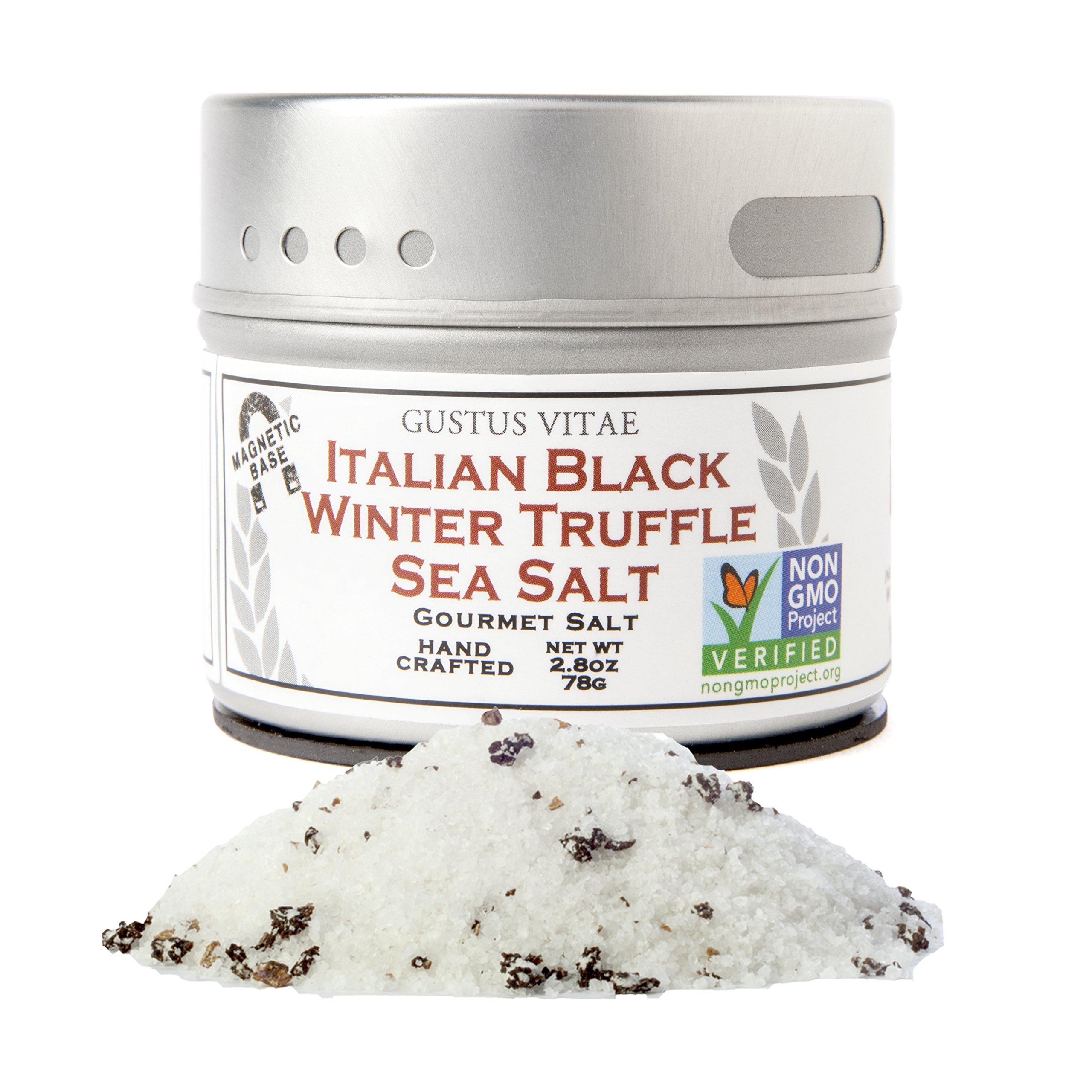 Italian Black Winter Truffle Sea Salt | Non GMO Verified | Small Batch Gourmet Seasoning