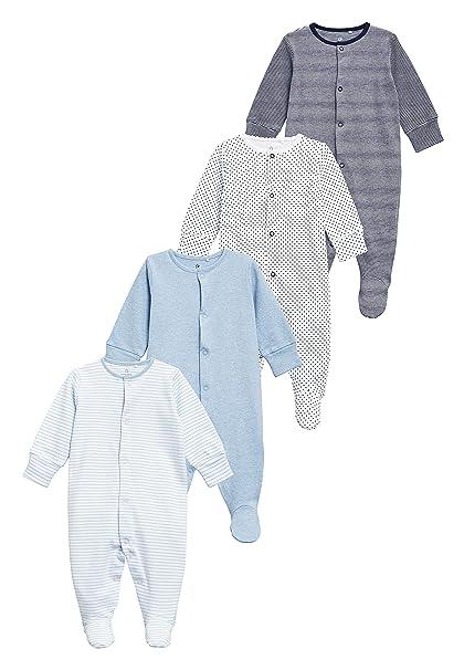 next Bebé-Niños Pack De Cuatro Pijamas Tipo Pelele (0 Meses - 2 Años) Azul/Blanco 1.5-2 Years: Amazon.es: Ropa y accesorios